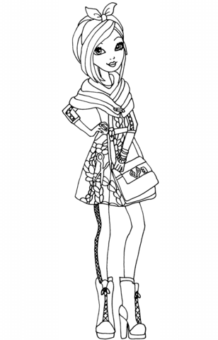 Ever After High Poppy OHair Coloring Page