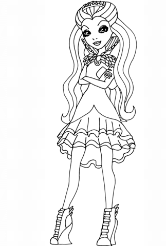 Ever After High Raven Queen coloring page