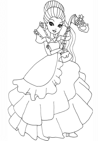 Ever After High Thronecoming Raven Queen coloring page