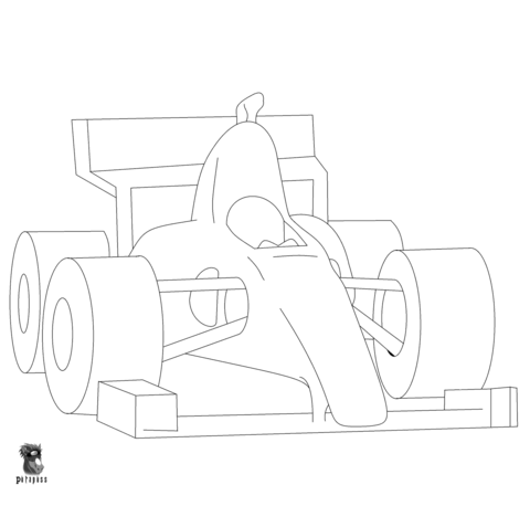 F1 Car coloring page