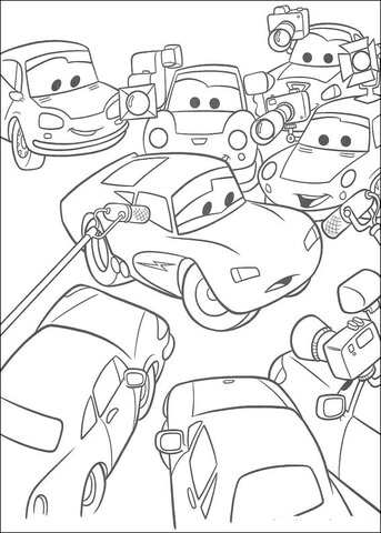 Congratulations to McQueen coloring page