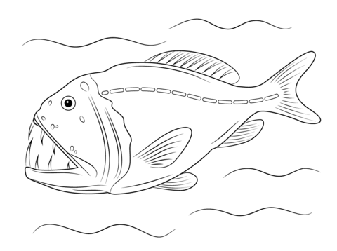 Fangtooth Fish coloring page