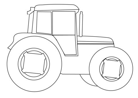 Tractor on a Farm coloring page - Free Printable Coloring Pages