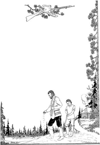 Farmer with a Son coloring page