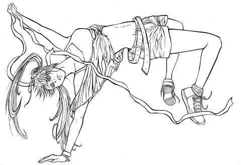 "Ringo Noyamano  from manga ""Air Gear"" coloring page"