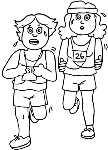 fitness coloring page