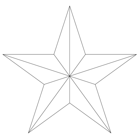 Five Point Star Coloring Page
