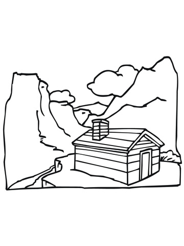 Fjords coloring page
