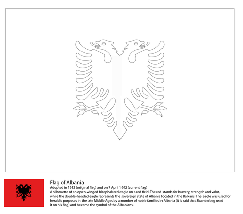 Flag of Albania coloring page