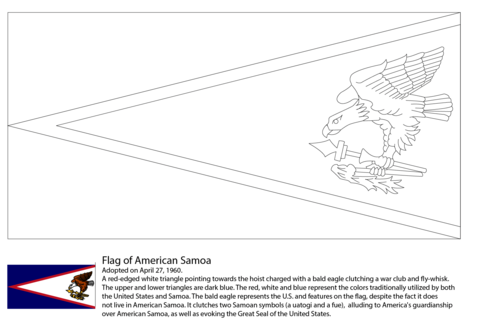 Flag of American Samoa coloring page