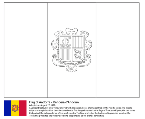 Flag of Andorra coloring page