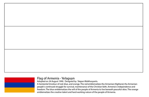 Flag of Armenia coloring page