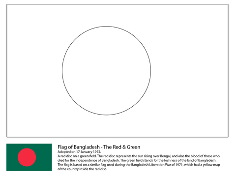 Flag of Bangladesh coloring page