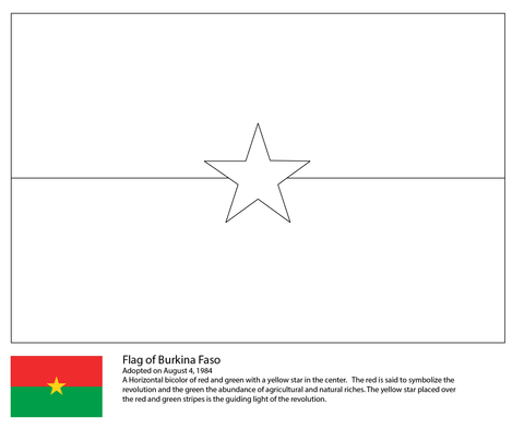 flag of burkina faso coloring page