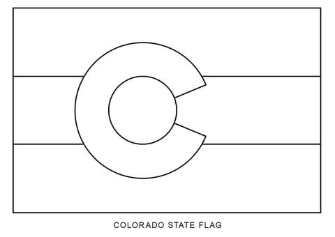Flag of Colorado coloring page