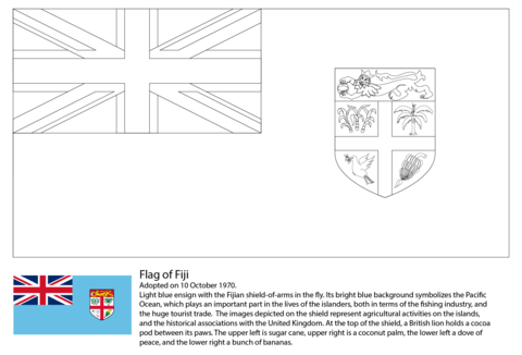 Flag of Fiji coloring page