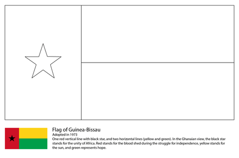 Flag of Guinea Bissau coloring page