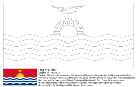 Flag of Kiribati coloring page