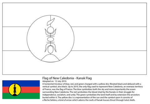 Flag of New Caledonia coloring page