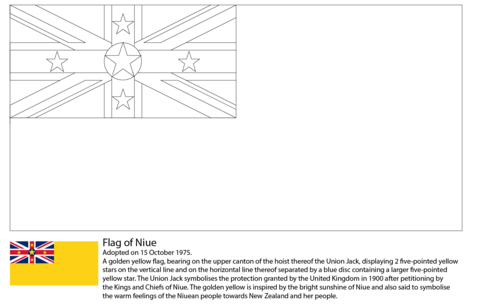 Flag of Niue coloring page