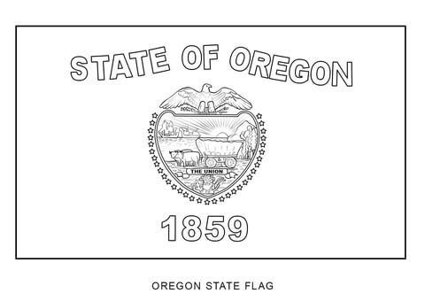 Flag Of Oregon Coloring Page Free Printable Coloring Pages
