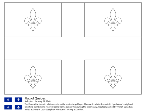Flag of Quebec coloring page