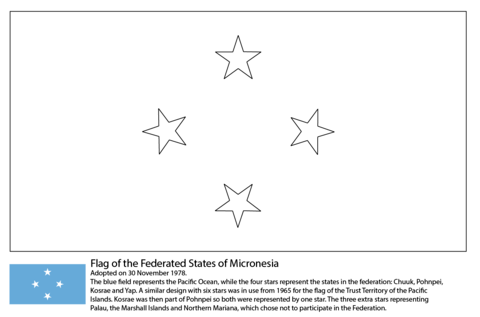 Flag of the Federated States of Micronesia coloring page
