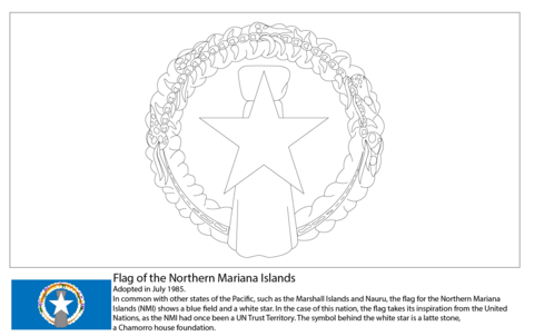 flag of the northern mariana islands coloring page