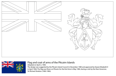 Flag of the Pitcairn Islands coloring page