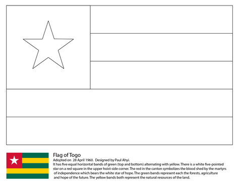 ghana flag coloring page free printable coloring pages