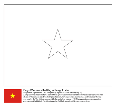Flag of Vietnam coloring page