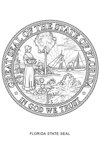 California State Seal coloring page - Free Printable Coloring Pages