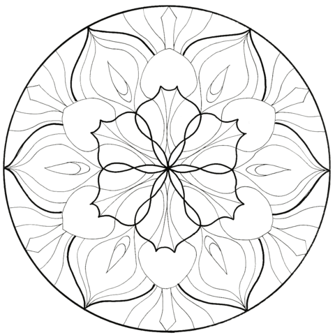 Flower Mandala coloring page
