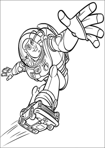 flying buzz lightyear coloring page - Buzz Lightyear Coloring Pages Free