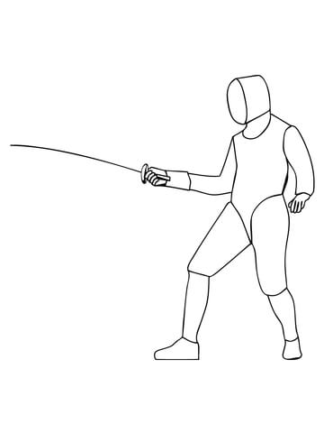 Foil Fencing coloring page