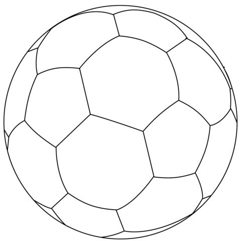 Football Ball Coloring Page
