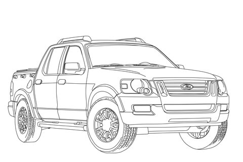 Coloring Pages Model T Ford : 2017 ford f 150 raptor coloring page free printable coloring pages
