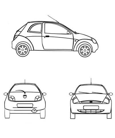 Ford Ka Coloring Page