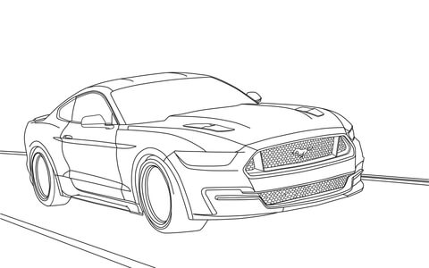 Ford Mustang Coloring Page 2015 Henry And Model T Car
