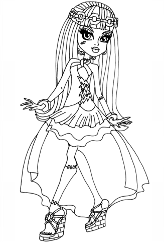 Frankie 13 Wishes coloring page