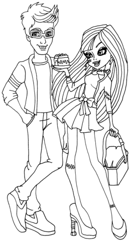 Frankie and Jackson Picnic Casket coloring page