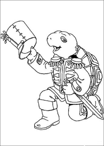 Franklin With Warrior Costume  coloring page