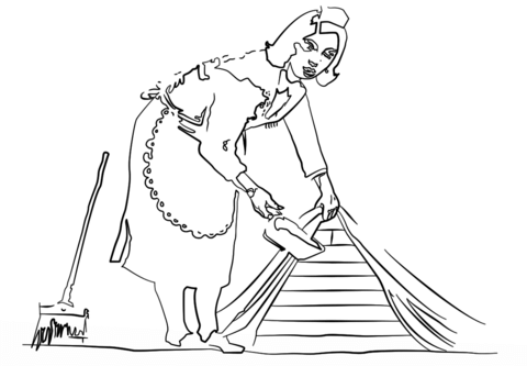 French Maid by Banksy coloring page