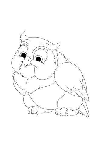 Friend Owl Is Looking Down From His Tree coloring page