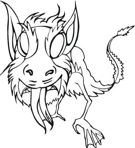 Frightening  coloring page