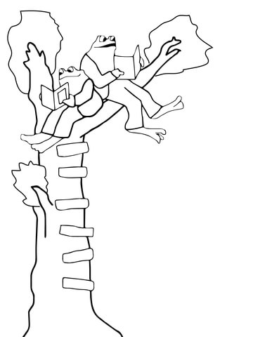 Frog and Toad coloring page