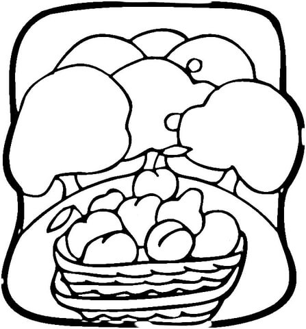 Fruit Garden  coloring page