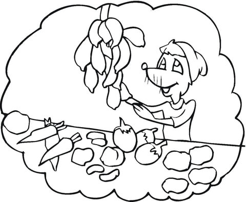 Fruits and Veggies coloring page
