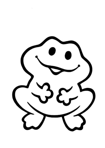 Funny Frog coloring page