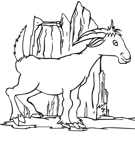 Funny Goat coloring page